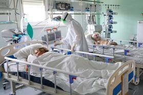 Kalachevskaya Hospital in Russia's Volgograd Region amid ongoing coronavirus pandemic