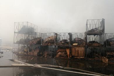 На заводе «БЕЛДЖИ» горели контейнеры супаковочным материалом