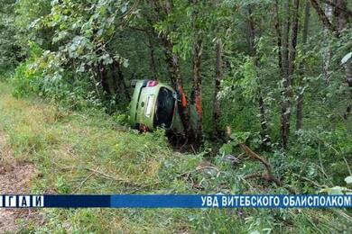 В Докшицком районе перевернулся Renault— погибла женщина-водитель