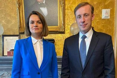 Светлана Тихановская и Джейк Салливан. Фото: пресс-служба Светланы Тихановской