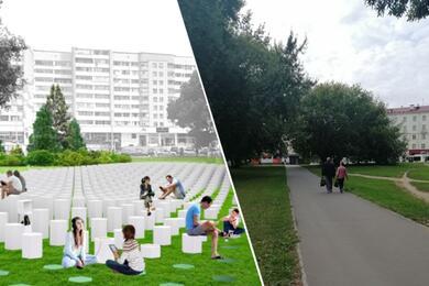 «Нет финансирования». Посмотрите, какой сквер обещали сделать уметро «Фрунзенская» ичто вышло витоге