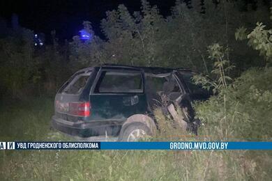 В Волковысском районе пьяный водитель опрокинул вкювет VW— 15-летний пассажир вреанимации