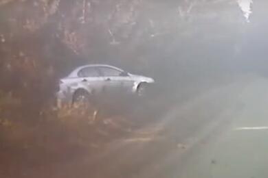 Под Гродно ГАИ спогоней задерживала водителя Mitsubishi. Отосвидетельствования онотказался