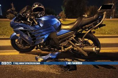 Два мотоциклиста столкнулись напроспекте Независимости вМинске
