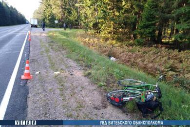 В Лепельском районе фургон насмерть сбил велосипедиста