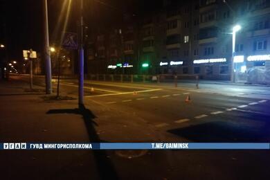В Минске напереходе Mitsubishi сбил женщину