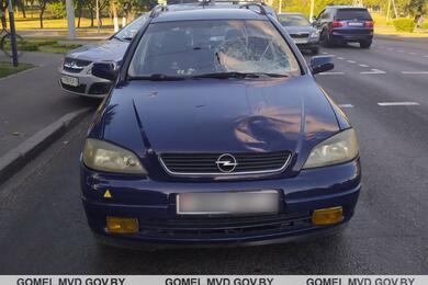 На переходе вГомеле Opel сбил женщину иее12-летнюю дочь