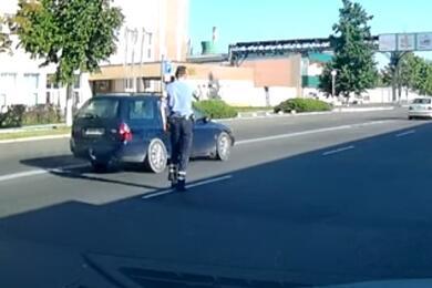 В Бобруйске пьяный водитель пытался скрыться отГАИ