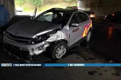В Минске женщина накаршеринговом Kia вылетела натротуар исбила двух пешеходов