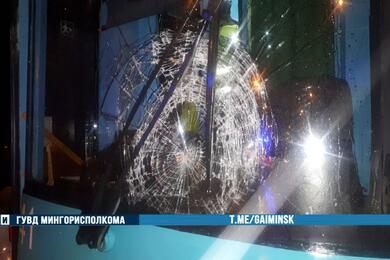 На улице Долгобродской вМинске пешеход попал под трамвай