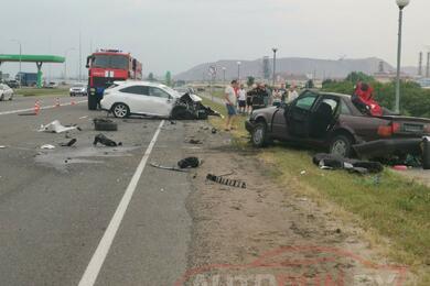 Под Солигорском Audi выехала навстречку иврезалась вLexus— погиб пассажир