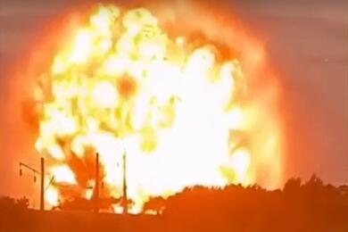 Видеофакт. ВКазахстане наскладе ввоинской части произошел мощный взрыв