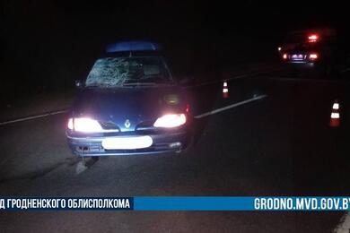 Под Гродно Renault насмерть сбил мужчину