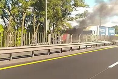 В Минске накольцевой сгорел автомобиль, четыре человека погибли