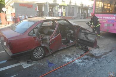 В Гомеле Fiat влетел врейсовый автобус— пострадали три человека