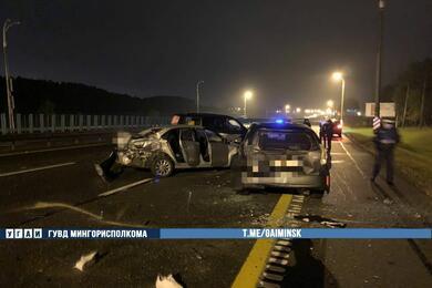 Двойная авария наМКАД: столкнулись четыре автомобиля, есть пострадавшие