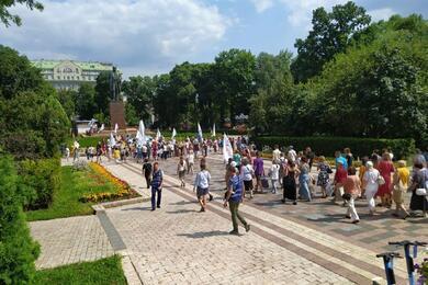 В Киеве устроили митинг против вакцинации отCOVID-19