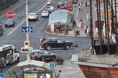 В центре Минска Toyota столкнулась сVovlo, вкоторой находились двое детей