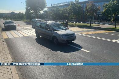 В Минске Lada сбила мужчину наэлектросамокате