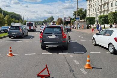 В Минске напроспекте Машерова автомобиль сбил пенсионера