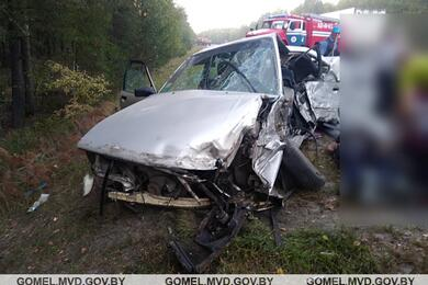 В Житковичском районе Audi врезалась вовстречный МАЗ— водитель легковушки вреанимации