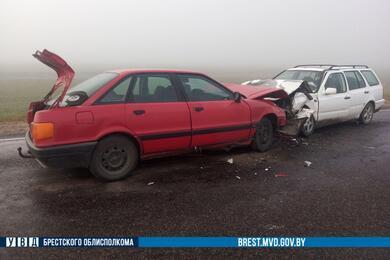 На трассе вСтолинском районе лоб влоб столкнулись Audi иVW— пострадали три человека