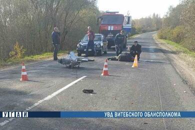 В Сенненском районе опрокинулся скутер— пострадал 80-летний водитель