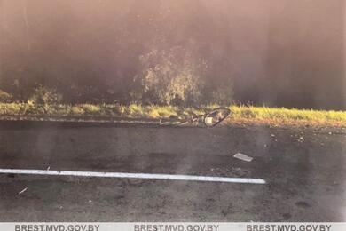 На трассе вКобринском районе сбили двух велосипедистов