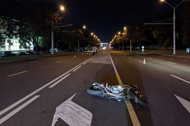 В Минске мотоциклист сбил пьяного пешехода
