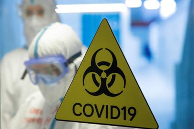Temporary hospital for COVID-19 patients in the Krylatskoye Ice Palace in Moscow