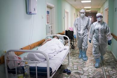 COVID-19 facility of Cheboksary hospital in Russia