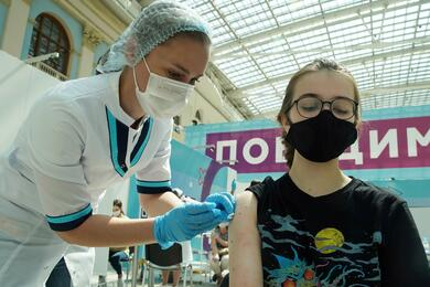 FILE PHOTO: Vaccination against the coronavirus disease (COVID-19) in Moscow