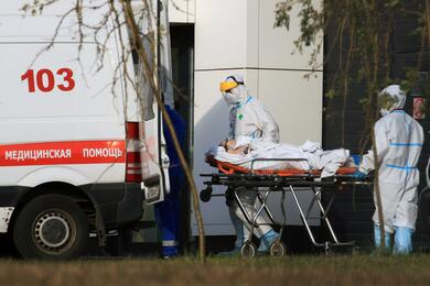 Hospital for patients infected with the coronavirus disease (COVID-19) in Moscow