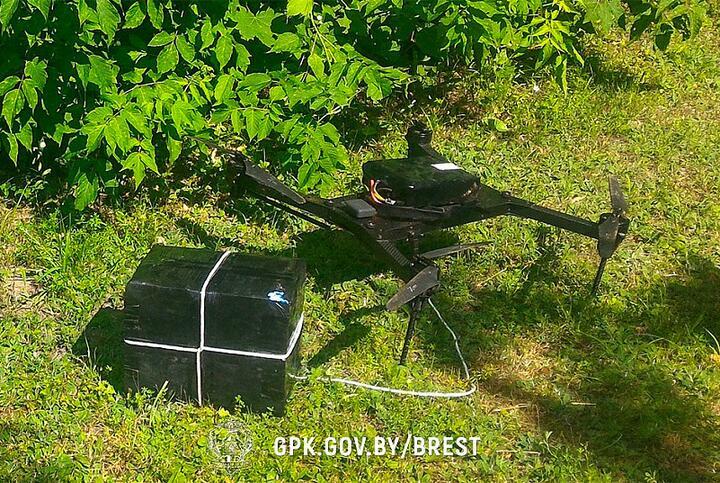 """Беспилотник, который """"сбили"""" брестские пограничники. Фото: Госпогранкомитет"""