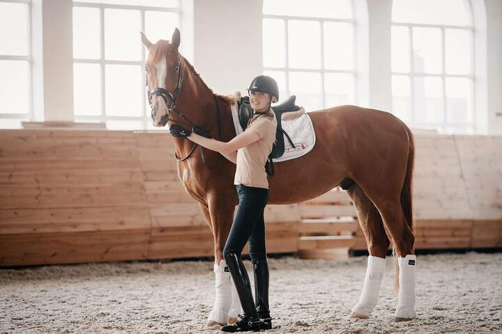 Ольга и ее конь Сандро де Амор, фото из личного архива спортсменки