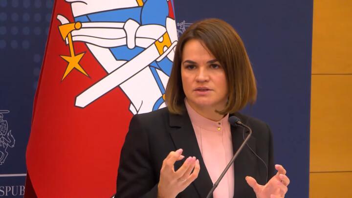 Скриншот видеотрансляции пресс-конференции