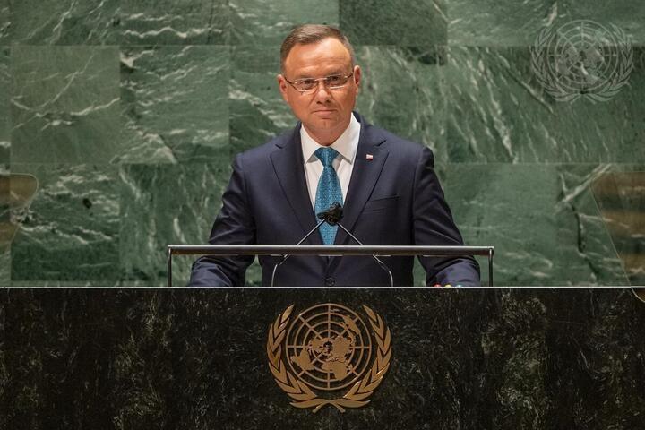 Анджей Дуда. Фото: пресс-центр ООН