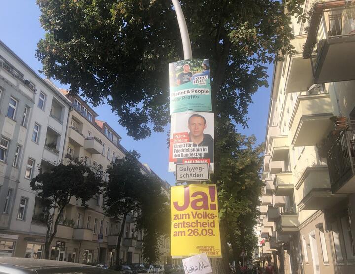 Предвыборные плакаты в Берлине