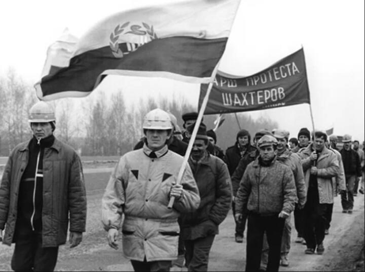Один из маршей шахтеров. Фото: belnp.org