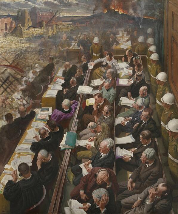 "Картина Лауры Найт ""Нюрнбергский процесс"". 1946 год. Изображение: wikipedia.org"