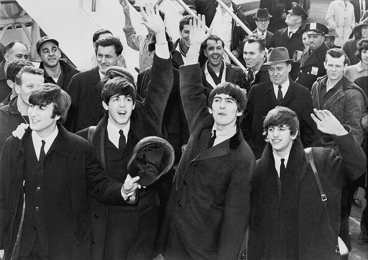 Группа The Beatles во время приезда в США. Фото: wikipedia.org