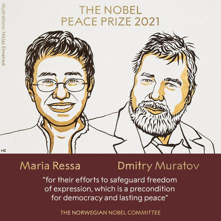 Иллюстрация: Twitter / @@NobelPrize