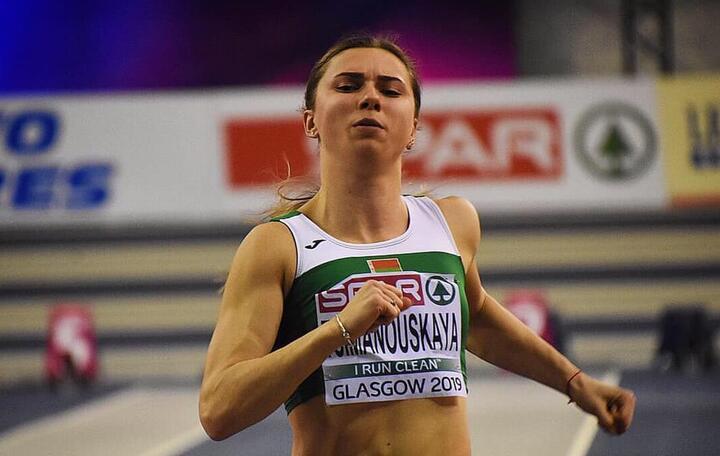 Кристина Тимановская. Фото: Facebook / Belarus Athletic Federation