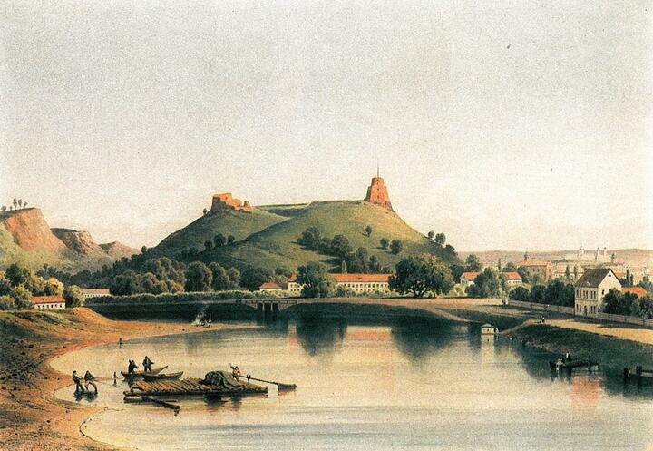 Вильнюс. Гора Гедимина на картине 1870 года. Фото: wikipedia.org