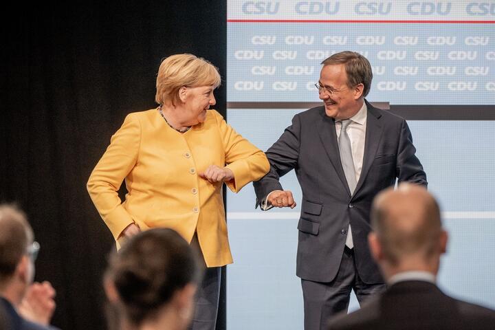 Ангела Меркель и Армин Лашет. Фото: Reuters