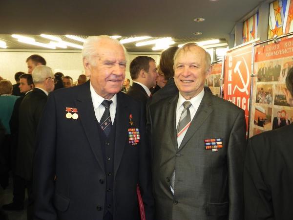 Николай Слюньков (слева) и Николай Дементей. 2014 год. Фото: comparty.by
