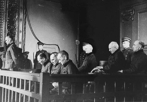 Подсудимые на Рижском процессе. Фото: wikipedia.org
